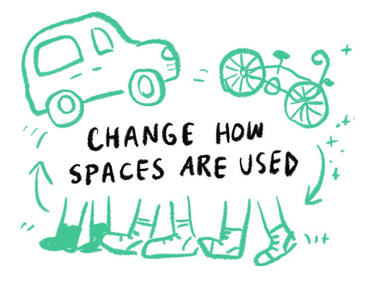 Change how spaces are used